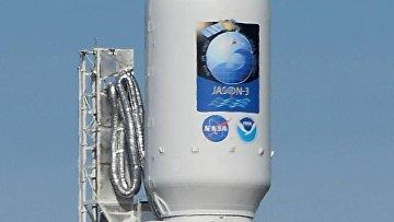 Старт ракеты Falcon 9 с погодным спутником Jason 3