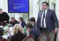Арсен Аваков и Михаил Саакашвили во время заседания Нацсовета