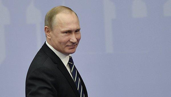 Президент РФ Владимир Путин на пленарном заседании всероссийского предпринимательского форума Малый бизнес – национальная идея?