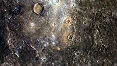 Цветное изображение планеты Меркурий. Архивное фото