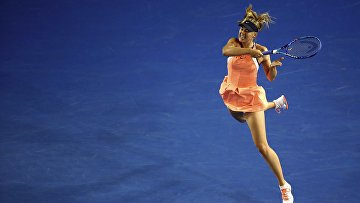 Россиянка Мария Шарапова на Открытом чемпионате Австралии по теннису