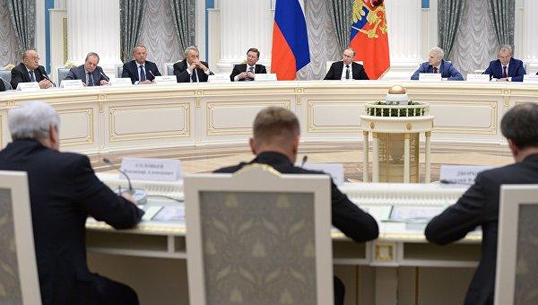 Президент РФ В. Путин провёл заседание Совета по науке и образованию