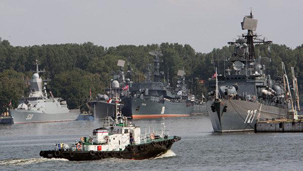 Вид на военную гавань города Балтийска. Архивное фото