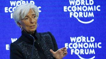 Директор-распорядитель Международного валютного фонда Кристин Лагард на экономическом форуме в Давосе, 23 января 2016