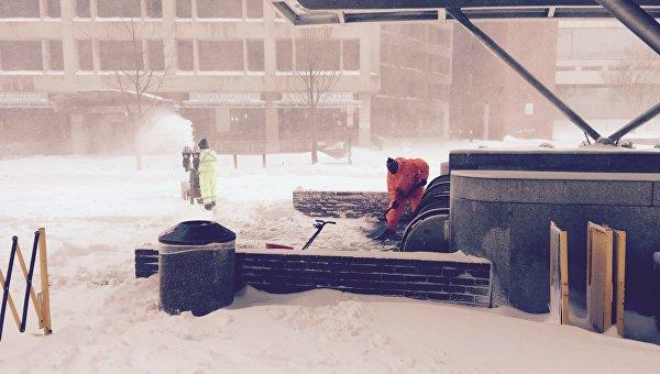 Снегопад в Вашингтоне, 24 января 2016. Архивное фото