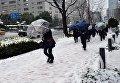 Снегопад в Японии, 18 января 2016