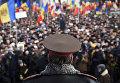 Генерал молдавской армии во время протестов в Кишинёве