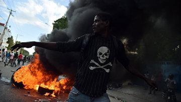 Беспорядки в Порт-о-Пренсе, Гаити. 23 января 2016