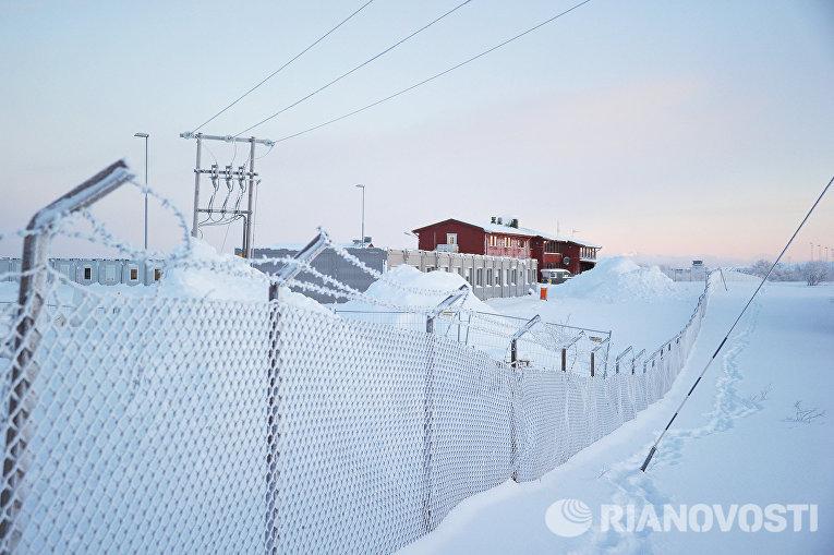 Лагерь для беженцев в районе города Киркенес на севере Норвегии