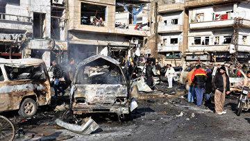 Последствия террористических актов в Сирии. Архивное фото