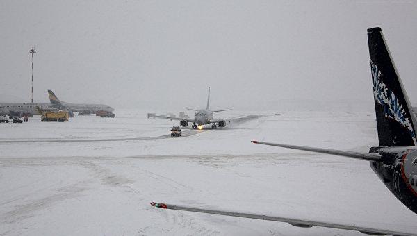 Задержка авиарейсов в аэропорту Шереметьево, архивное фото
