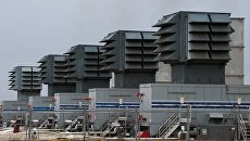 Мобильные газотурбинные электростанции (МГТЭС) на площадке Западно-Крымская вблизи г. Саки в Крыму. Архивное фото