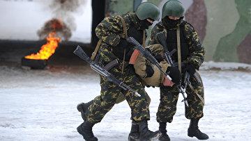 Учения батальонной группы и антитеррористических подразделений ВВ МВД РФ