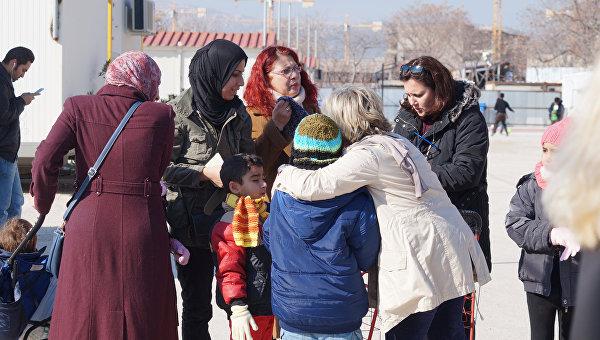 Лагерь для беженцев в Греции. Архивное фото