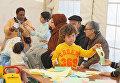 Центр размещения беженцев в афинском районе Элеона