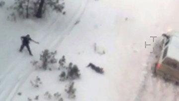 Кадр с видео, на котором запечатлен момент убийства фермера в Орегоне