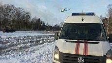 На месте ДТП в Ленинградской области, 30 января 2016