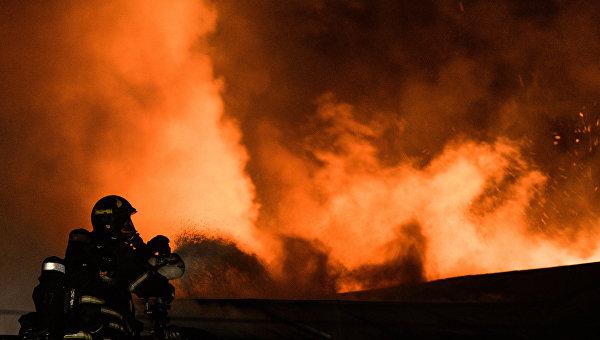 Все погибшие впожаре наскладе в столицеРФ оказались девушками