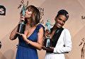 Актрисы Джеки Крус и Викки Джеди. 22-я церемония вручения премии Гильдии киноактёров США. Январь 2016