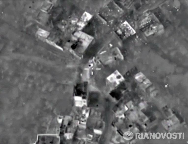 Уничтожение российской авиацией командного пункта боевиков с развитой инфраструктурой в провинции Латакия