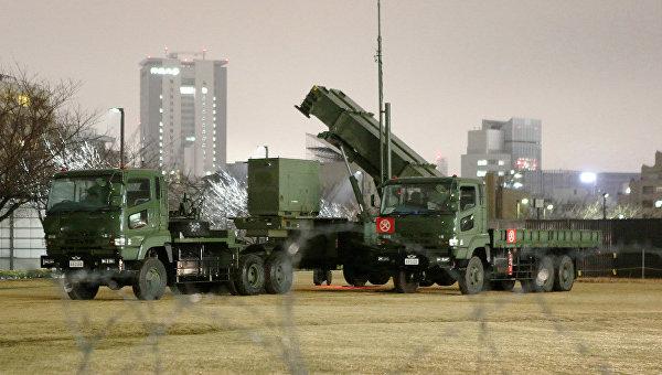 Зенитно-ракетный комплекс Patrio возле министерства обороны в Токио. Архивное фото