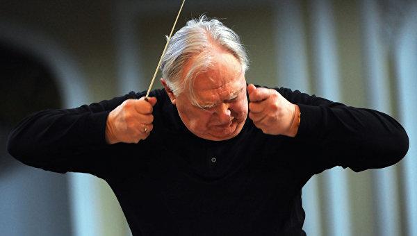 Репетиция оркестра Виртуозы Москвы и дирижера Саулюса Сондецкиса. Архивное фото