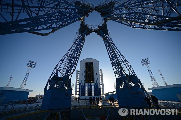 Стартовый комплекс космодрома Восточный в Амурской области