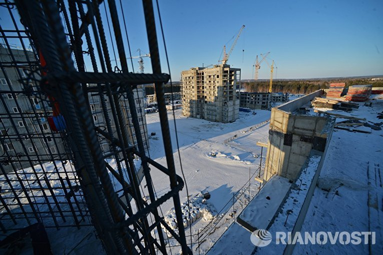Строительство домов в городе Циолковский в Амурской области