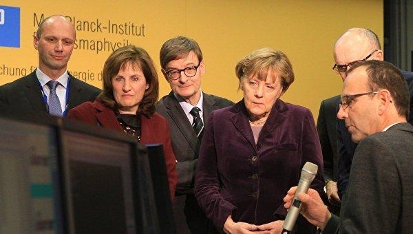 Ангела Меркель включает стелларатор