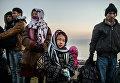 Сирийские беженцы на турецкой границе