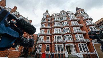 Посольство Эквадора в Лондоне, где находится Джулиан Ассанж. 4 февраля 2016 года