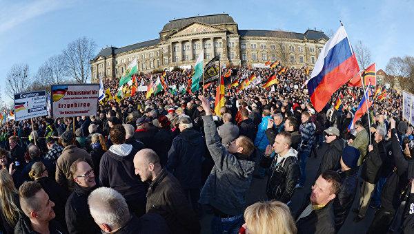 Акции против исламизации Европы в европейских странах. Архивное фото