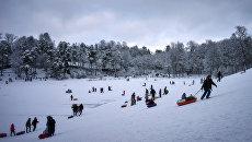 Зимний отдых горожан. Архивное фото