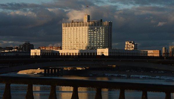 Вид на Дом Правительства Российской Федерации, архивное фото