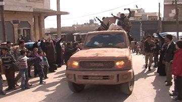 Жители шиитского города под Алеппо с ликованием встретили солдат Асада