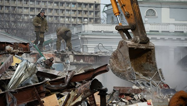 Снос незаконных построек в Москве. Архивное фото