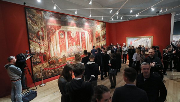 Открытие монографической выставки Александра Герасимова