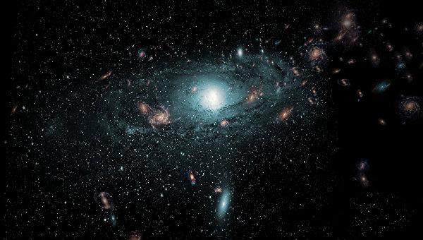 Примерно так выглядят скопления галактик, найденные за Млечным Путем