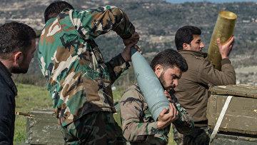 Артиллеристы сирийской армии, архивное фото