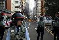 Полиция Гонконга во время столкновений. 9 февраля 2016