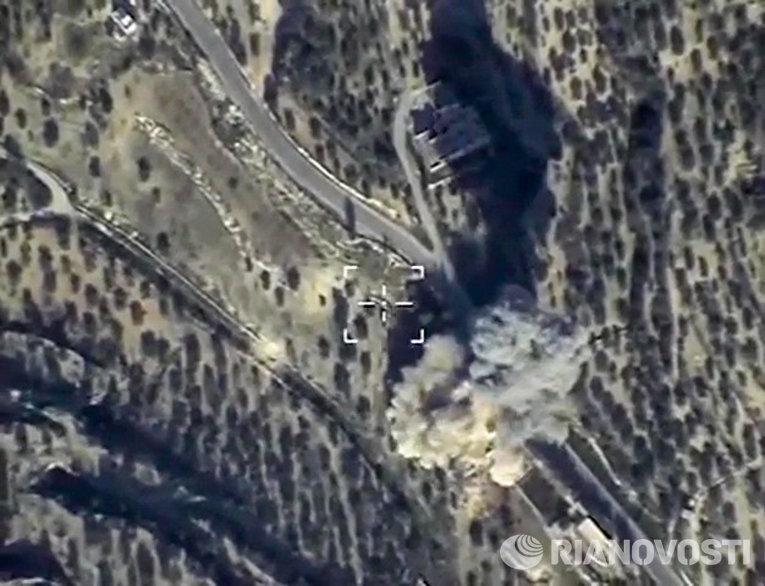 Уничтожение ВКС России командного пункта ИГ в провинции Идлиб
