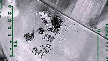 Уничтожение ВКС России нефтехранилищ ИГ в провинции Алеппо. Февраль 2016