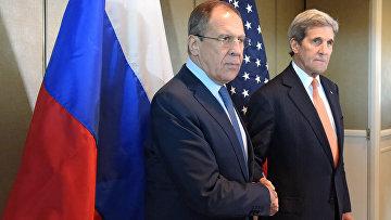Встреча главы МИД РФ С. Лаврова и госсекретаря США Д. Керри