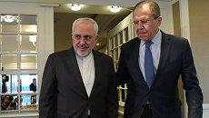 Министр иностранных дел Российской Федерации Сергей Лавров и министр иностранных дел Исламской Республики Иран Мохаммад Джавад Зариф. Архивное фото