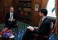 """Председатель правительства РФ Дмитрий Медведев во время интервью журналу """"Тайм"""" по итгам Мюнхенской конференции по вопросам политики безопасности"""