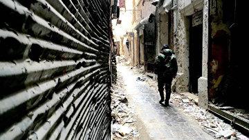La città siriana di Aleppo.  foto d'archivio