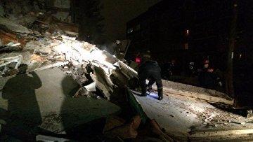 На месте взрыва газа в жилом доме в Ярославле