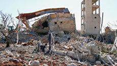 Больница Врачей без границ в провинции Идлиб, разрушенная в результате авиаудара. 15 февраля 2016. Архивное фото