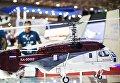 """Макет российского многоцелевого вертолета Ка-32А11BC на стенде холдинга """"Вертолеты России"""" на международной авиационно-космической выставке """"Dubai Airshow-2015"""""""