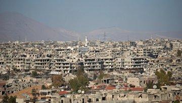 Джобар-район Дамаска контролируемый боевиками. Архивное фото